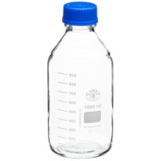 Lab Bottles, 1,000 mL, Screw Cap, Pour Ring, 10 Pcs