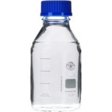 Lab Bottles, 500 mL, Screw Cap, Pour Ring, 10 Pcs