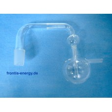 Bubble counter with balls, NS 18 conical, smooth lateral hose volute