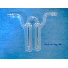 Bubble counter, side tube vials, borosilicate glass, gas flow measure