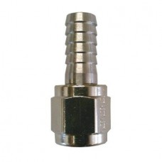 "Barbed Tubing Connector, Stainless Steel and 1/4"" Swivel Nut"