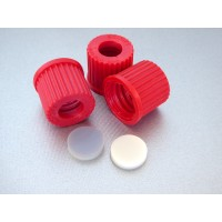 Screw cap GL14 with bore and sealing washer