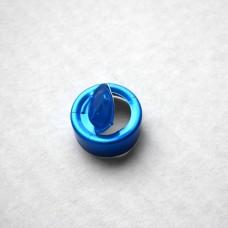 Aluminum caps, 20 mm, blue